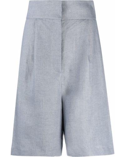 Льняные с завышенной талией шорты с карманами Fabiana Filippi