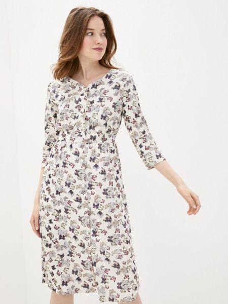Платье платье-рубашка бежевое Sezoni