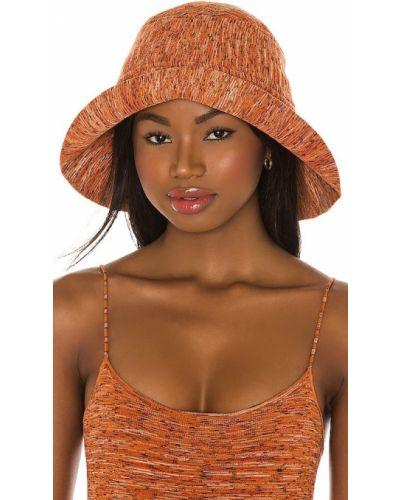 Оранжевая шапка жаккардовая винтажная Tropic Of C