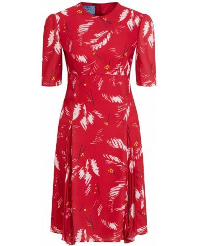 Платье мини - красное Prada