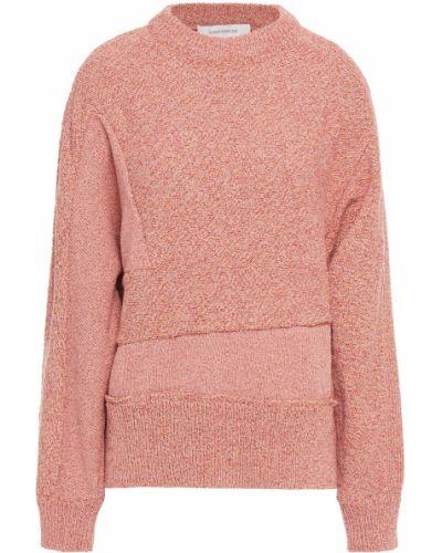 Prążkowany różowy sweter bawełniany Cedric Charlier