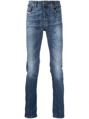 Klasyczne niebieskie jeansy bawełniane Diesel