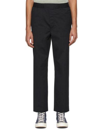 Spodni bawełna czarny przycięte spodnie z kieszeniami Acne Studios