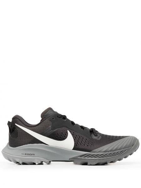 Ażurowy czarny top zasznurować okrągły nos Nike