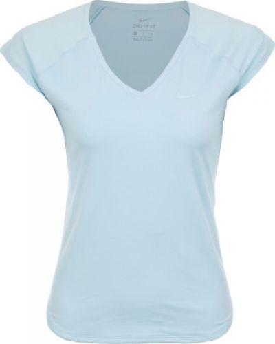 Голубая футболка теннисная Nike