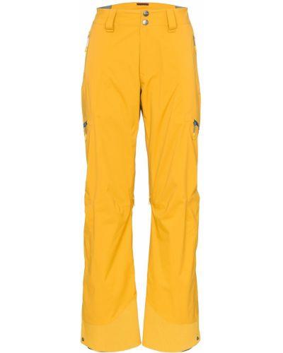Желтые парусиновые спортивные брюки с поясом Mammut Delta X