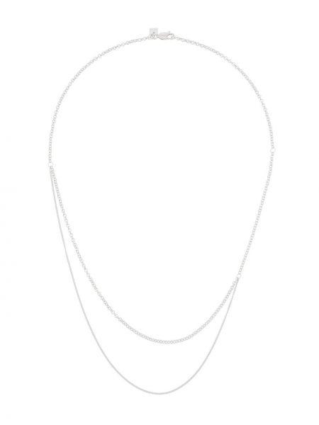 Ażurowy naszyjnik srebrny kaskadowy Bar Jewellery