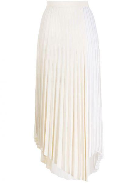Свободная белая асимметричная плиссированная юбка из вискозы Mrz