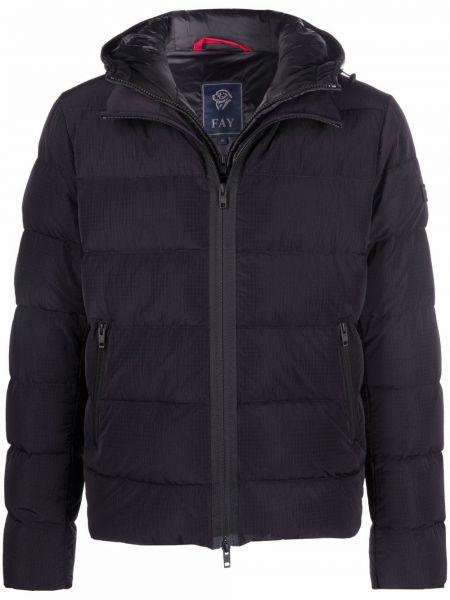 Черная пуховая куртка Fay