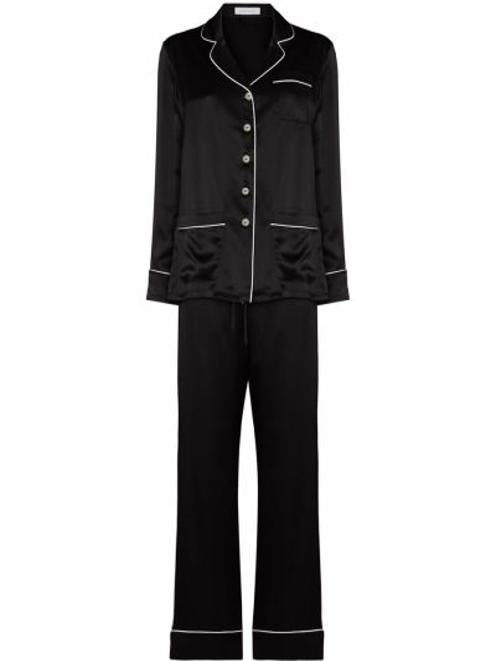 Шелковая пижама - черная Olivia Von Halle