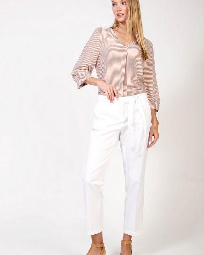 Хлопковые белые брюки Cambio