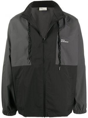Czarna kurtka z kapturem z długimi rękawami Drole De Monsieur