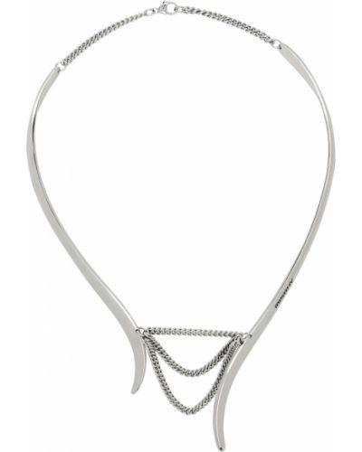 Czarny naszyjnik łańcuch srebrny Misbhv