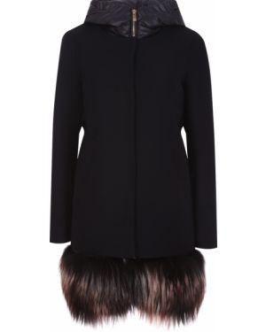 Пальто с капюшоном на молнии на кнопках Montecore
