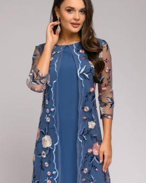 Коктейльное платье с вышивкой сетчатое 1001 Dress