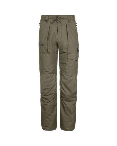 Прямые зеленые утепленные спортивные брюки Termit