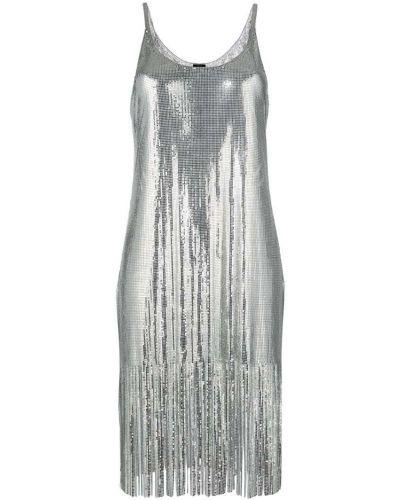 Платье мини с бахромой шифт Paco Rabanne
