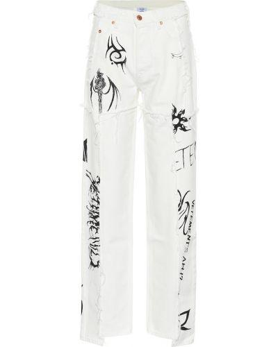 Широкие джинсы с цветочным принтом mom Vetements
