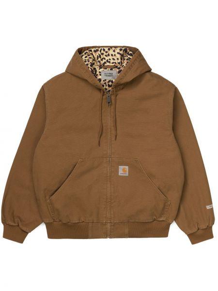 Хлопковая коричневая куртка Wacko Maria