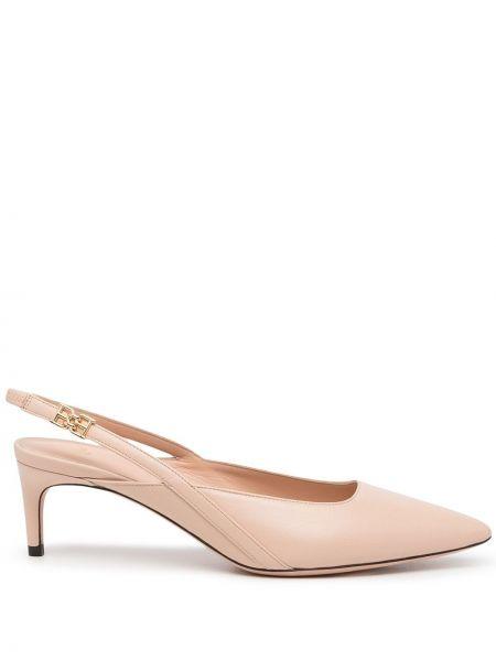 Розовые туфли металлические Bally
