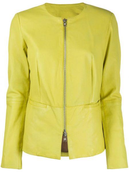 Приталенная желтая куртка двусторонняя на молнии S.w.o.r.d 6.6.44
