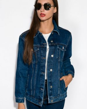 Хлопковая куртка - синяя Time Of Style