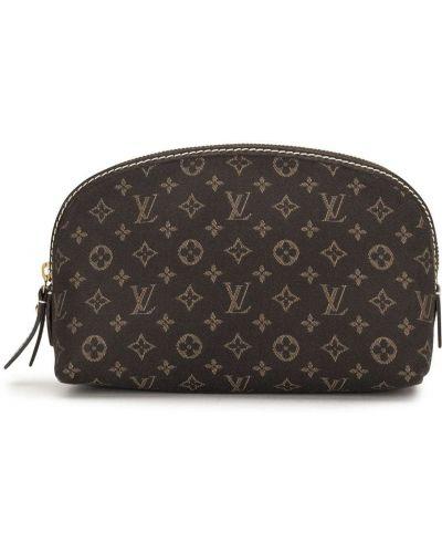 Коричневая косметичка на молнии с карманами Louis Vuitton