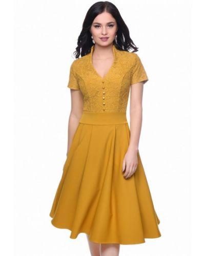 Желтое коктейльное платье Grey Cat