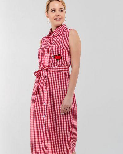 Платье в клетку - красное Modniy Oazis