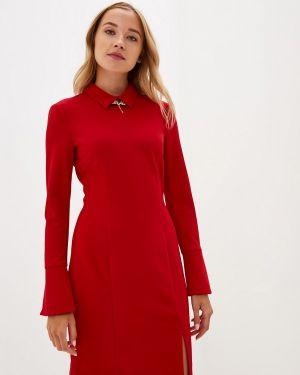 Платье бордовый прямое Panda