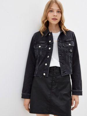 Черная зимняя куртка Calvin Klein Jeans