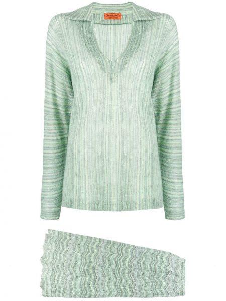 Прямая классическая юбка макси с поясом узкого кроя Missoni Pre-owned