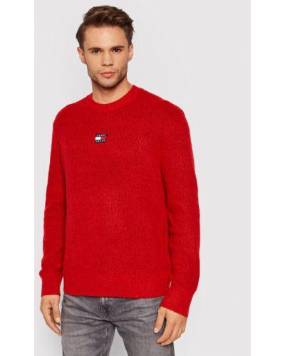 Sweter - czerwony Tommy Jeans