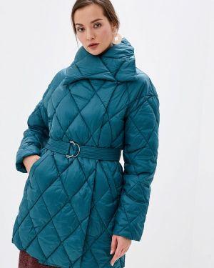 Теплая бирюзовая утепленная куртка Odri Mio