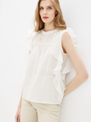Белая блузка с оборками Compania Fantastica
