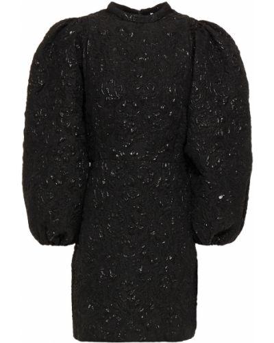 Черное платье мини на крючках с манжетами SamsØe Φ SamsØe