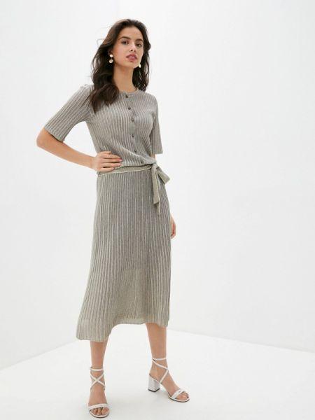 Серое повседневное платье Falconeri