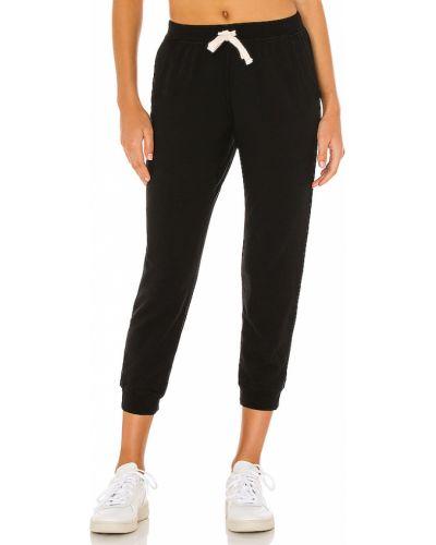 Runo bawełna czarny joggery z kieszeniami Electric & Rose