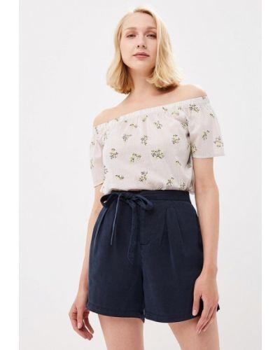 Бежевая блузка с открытыми плечами Vero Moda