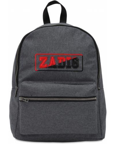 Nylon plecak na paskach z kieszeniami Zadig&voltaire