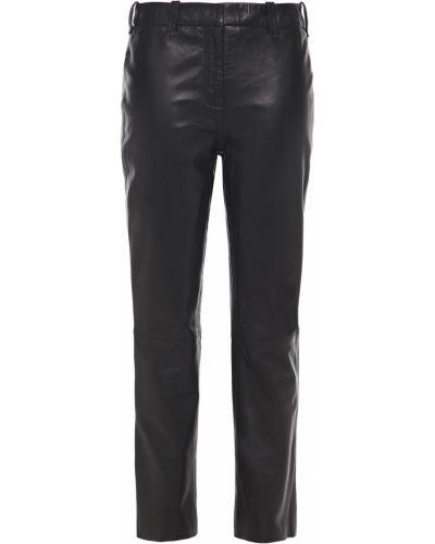 Кожаные черные брюки с поясом Muubaa