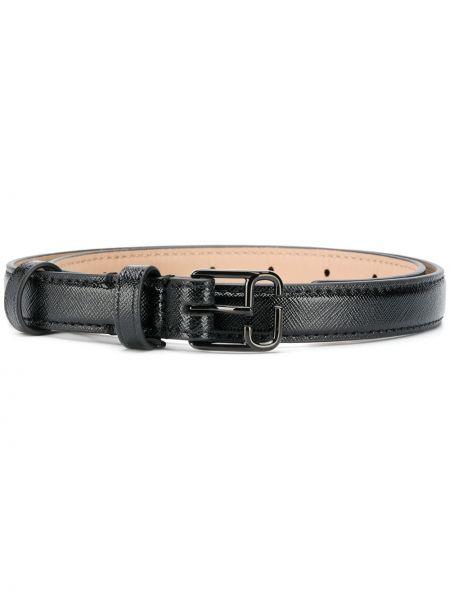 Кожаный черный ремень с пряжкой Marc Jacobs