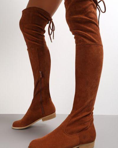 Kozaki za kolano z wiązaniami Renee