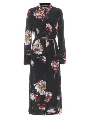 Черное шелковое платье миди Altuzarra