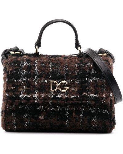 Черная кожаная косметичка с карманами Dolce & Gabbana Kids