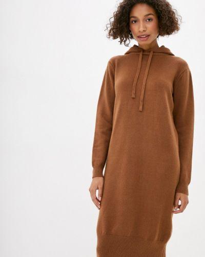 Коричневое вязаное платье Trendyangel