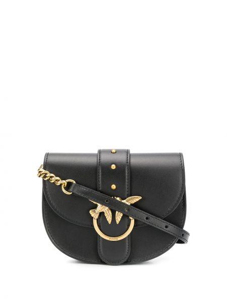 Черная кожаная поясная сумка с заклепками Pinko