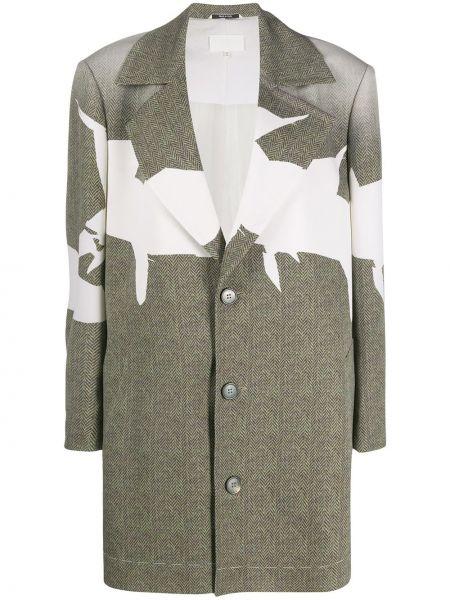 Długi płaszcz zapinane na guziki z nadrukiem Maison Margiela