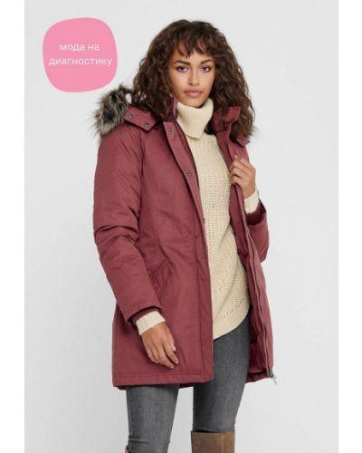 Теплая розовая куртка Only