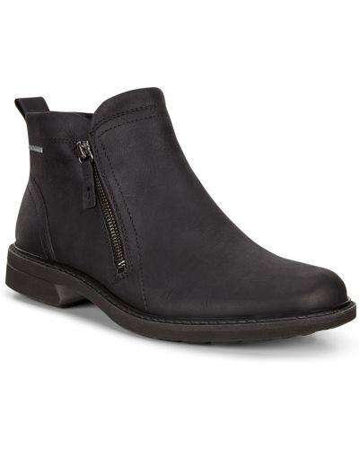 Водонепроницаемые черные кожаные ботинки Ecco